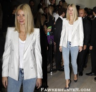 Supporting friend Stella McCartney at London Fashion Week 2009