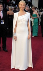 Super in Calvin Klein Dress and Cape at the 2012 Oscars