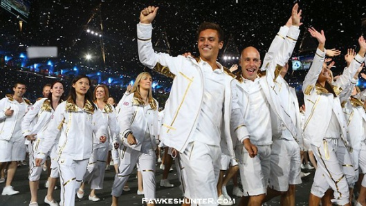 Team GB at the Opening Ceremony