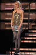 Supporting her Hubby in Versace at the 2009 Grammys