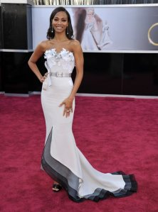 Zoe Saldana in Alexis Mable Couture Oscars 2013