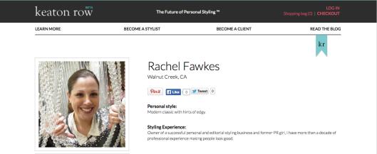 Online Stylist - Rachel Fawkes