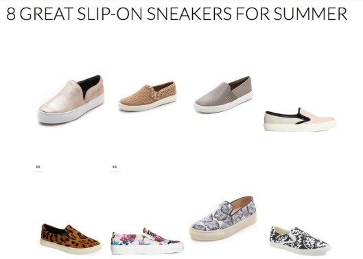 8 Great Summer Slip-on Sneakers