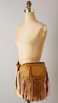 Anthropologie Fringe fanny pack
