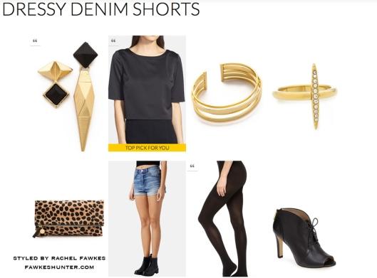 Dressy Denim Shorts