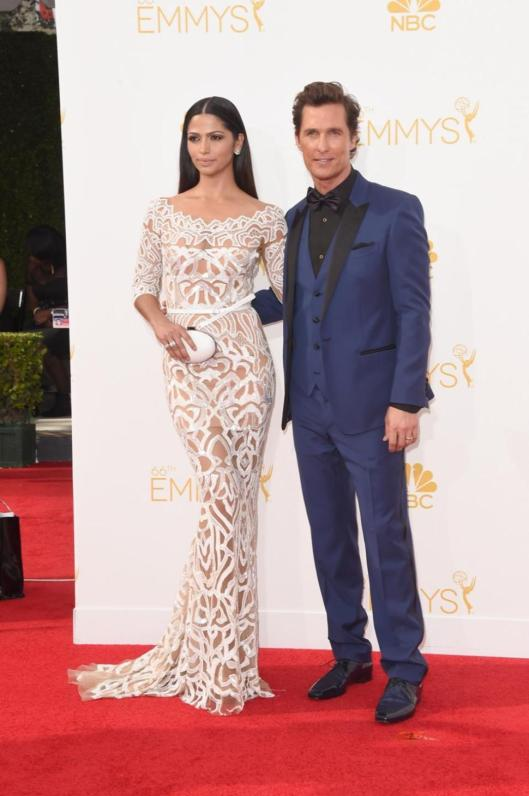 Matthew McConaughey and Camila Alves Emmy 2014 - Rachel Fawkes San Francisco Fashion Expert