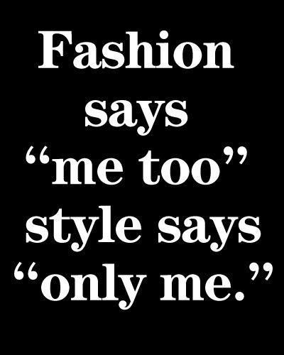 Fashion Says Me Too Style Says Only Me - Rachel Fawkes San Francisco Fashion Stylist