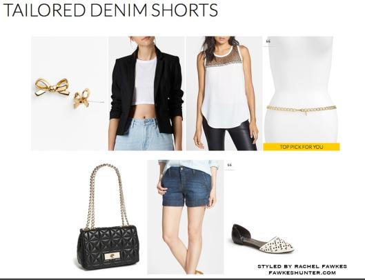 Tailored Denim Shorts
