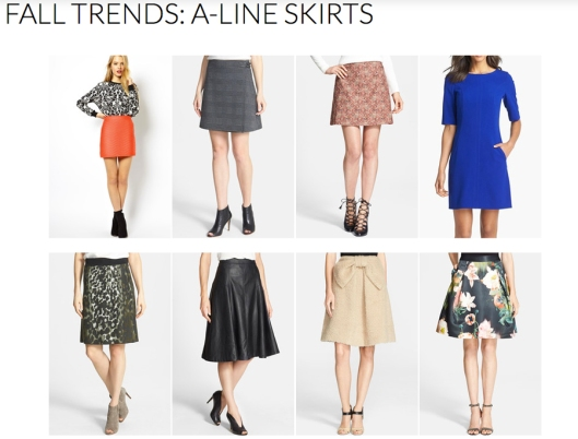 A-line Skirts - Fall 2014 Trends - Rachel Fawkes San Francisco Fashion Stylist