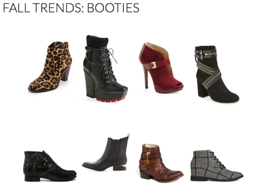 Booties - Fall 2014 Trends - Rachel Fawkes San Francisco Fashion Stylist