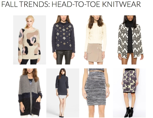 Knitwear - Fall 2014 Trends - Rachel Fawkes San Francisco Fashion Stylist