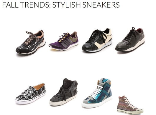 Stylish Sneakers - Fall 2014 Trends - Rachel Fawkes San Francisco Fashion Stylist