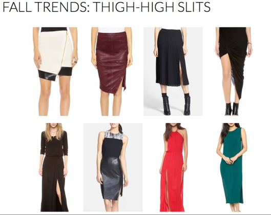 Thigh High Slits - Fall 2014 Trends - Rachel Fawkes San Francisco Fashion Stylist