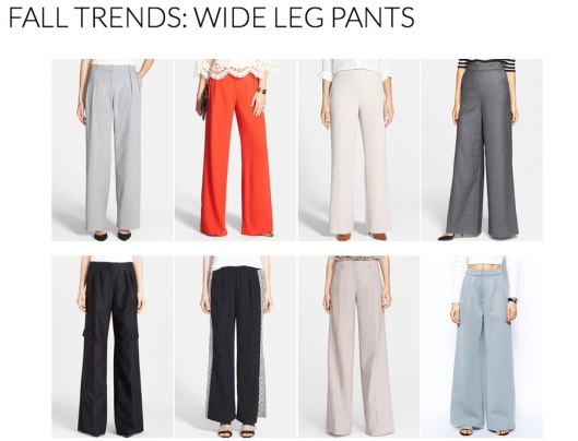 Wide Leg Pants - Fall 2014 Trends - Rachel Fawkes San Francisco Fashion Stylist