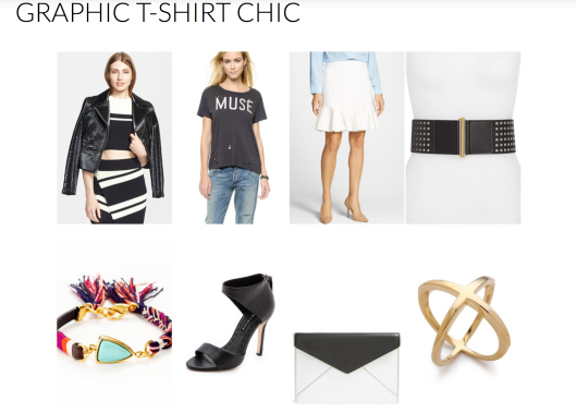 Graphic T-shirt Chic_Styled by Rachel Fawkes San Francisco Fashion Stylist