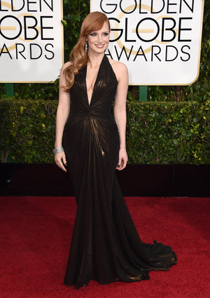 Jessica Chastain_Atelier Versace_Golden Globes 2015_Rachel Fawkes San Francisco Fashion Stylist