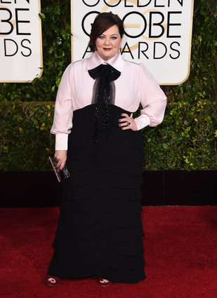Melissa McCarthy_DIY Dress_Golden Globes 2015_Rachel Fawkes San Francisco Fashion Stylist