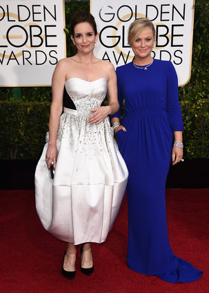 Tina Fey_Antonio Berardi_Amy Poehler_Stella McCartney_Golden Globes 2015_Rachel Fawkes San Francisco Fashion Stylist