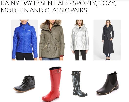 Rainy Day Essentials - Rachel Fawkes San Francisco Fashion Stylist